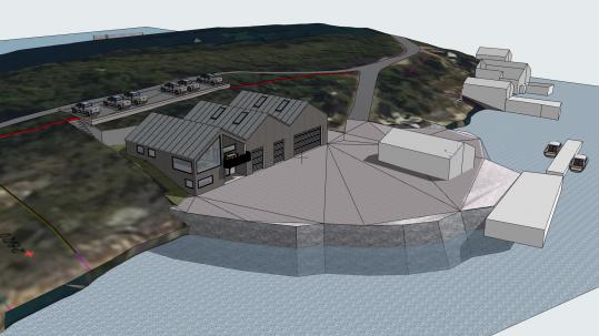 Gnist Arkitekter har laget tegningene til den nye landsbasen i Nordvågen.